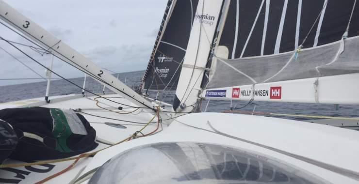 à bord de Prysmian sur la Rolex Fastnet Race